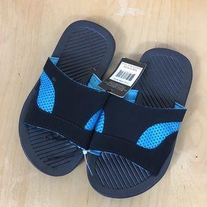 Revo Black Blue Flip flops Boys Brand New